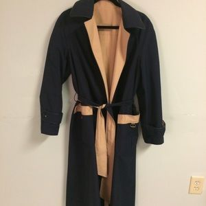 Vintage Aigner reversible trench coat